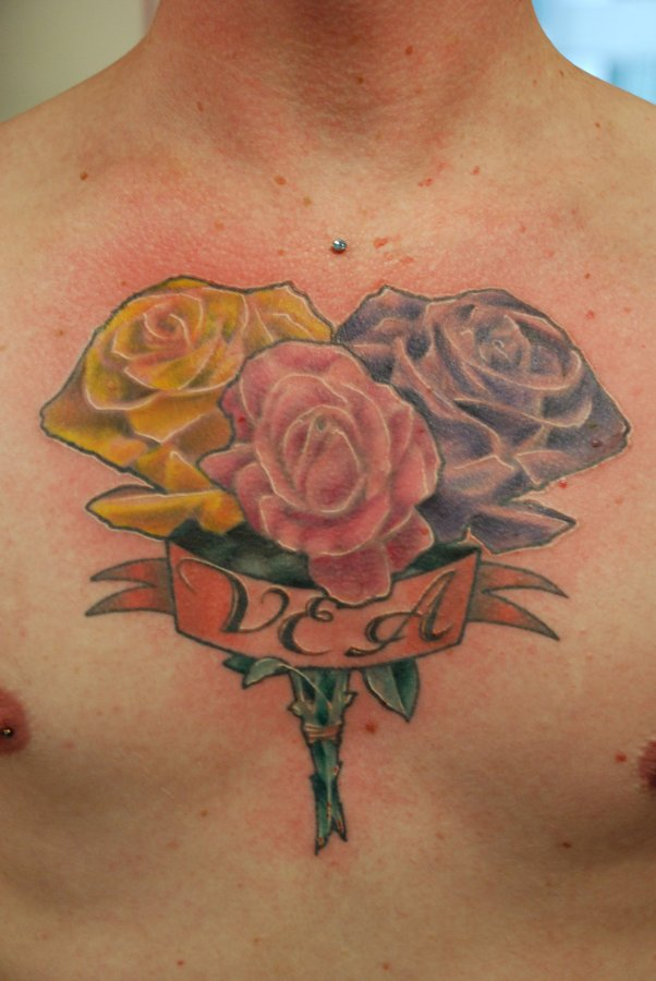 Rose Chest Piece