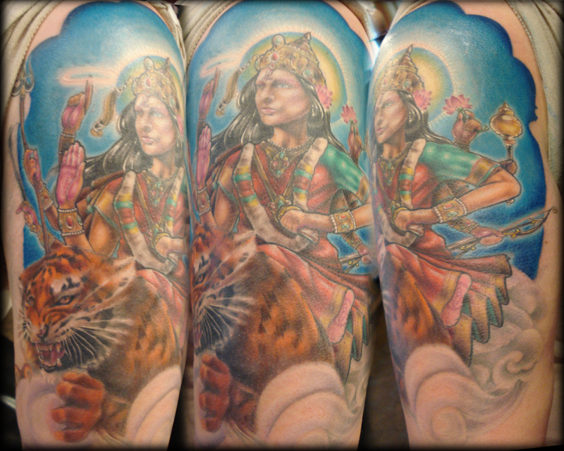 Durga & Her Tiger 1/2 Sleeve