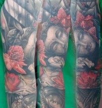 Buddha Head & Kois sleeve