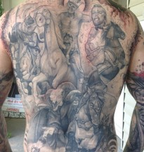 kevin's four horsemen backpiece