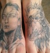 Geisha & Demon Skull Feet