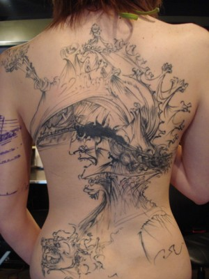 Salvador Dali Sketch Backpiece
