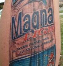 Magna Light Beer Can