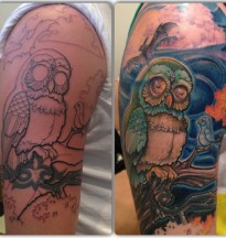 owl tribal cover up