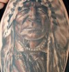Native American Portait 1/2 Sleeve