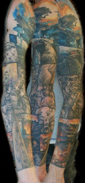 Zombie Comic Book Sleeve 1