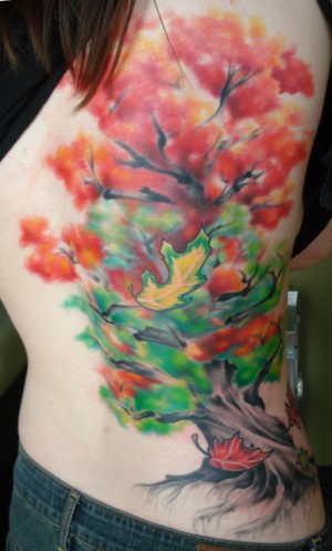Fall Tree Ribpiece